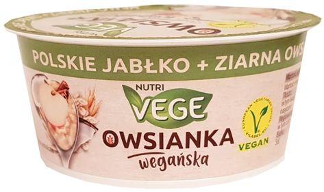 Polmlek Mazowiecka Spółka Mleczarska, Nutri Vege Owsianka wegańska polskie jabłko ziarna owsa, copyright Olga Kublik