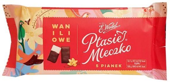 Wedel, Ptasie Mleczko Waniliowe 5 pianek, copyright Olga Kublik