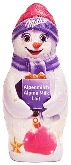 Milka, bałwanek z czekolady mlecznej, copyright Olga Kublik