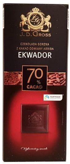 J.D. Gross, Czekolada gorzka Ekwador 70% cacao, copyright Olga Kublik