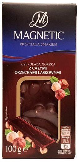 Millano-Baron, Magnetic Czekolada gorzka z całymi orzechami laskowymi z Biedronki, copyright Olga Kublik