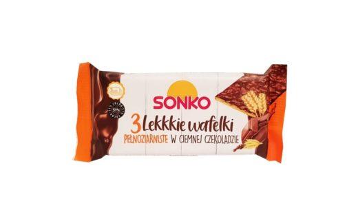 Sonko, 3 Lekkie wafelki pełnoziarniste w ciemnej czekoladzie, copyright Olga Kublik
