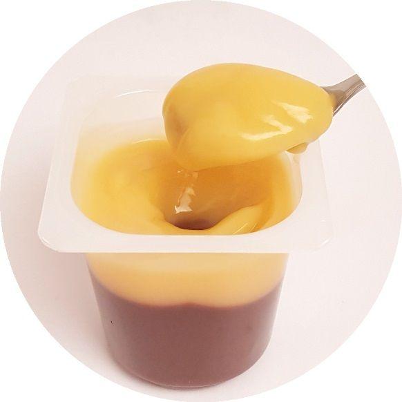 Zott, Serduszko Pudding o smaku czekoladowym z sosem o smaku waniliowym, copyright Olga Kublik