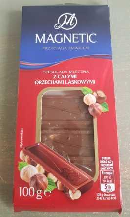 Mleczna czekolada z orzechami z Biedronki (Magnteic Millano)