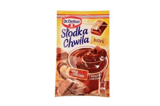 Dr. Oetker, Słodka Chwila Budyń smak czekolada z belgijską czekoladą nowa wersja, copyright Olga Kublik