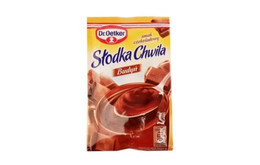 Dr. Oetker, Słodka Chwila Budyń smak czekoladowy stara wersja, copyright Olga Kublik