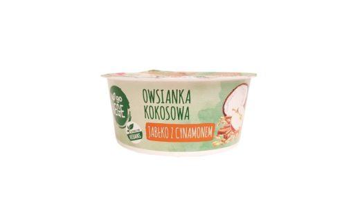 Go Vege, Owsianka kokosowa Jabłko z cynamonem Biedronka, copyright Olga Kublik