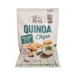 Eat Real, Quinoa Chips Sour Cream Chives Flavour wegańskie chrupki z quinoa, copyright Olga Kublik