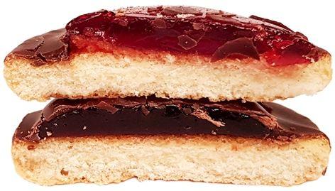 Mondelez, Delicje Szampańskie Wiśniowe, biszkopty z galaretką wiśniową w czekoladzie deserowej, copyright Olga Kublik
