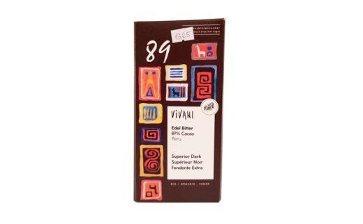 Vivani, Edel Bitter 89% Cacao Peru Superior Dark, gorzka czekolada ekologiczna, copyright Olga Kublik