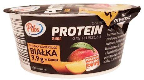 Pilos, Jogurt PROTEIN bez tłuszczu Mango Lidl, copyright Olga Kublik