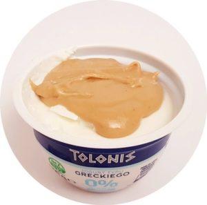 KruKam, naturalny jogurt grecki z masłem orzechowym przepis, copyright Olga Kublik