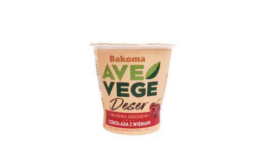 Bakoma, Ave Vege Deser na kremie kokosowym smak Czekolada wiśnie, copyright Olga Kublik