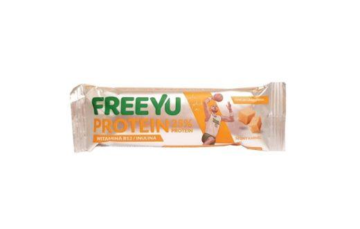 FreeYu, Protein malina słony karmel baton proteinowy, copyright Olga Kublik