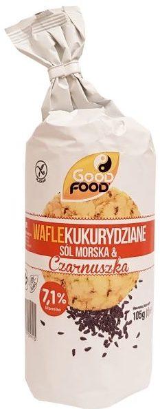 Good Food, Wafle kukurydziane Sól morska Czarnuszka, copyright Olga Kublik
