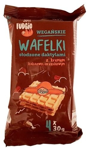 Me gusto, Super Fudgio Ekologiczne wegańskie Wafelki z kremem kakaowo-orzechowym słodzone daktylami, copyright Olga Kublik