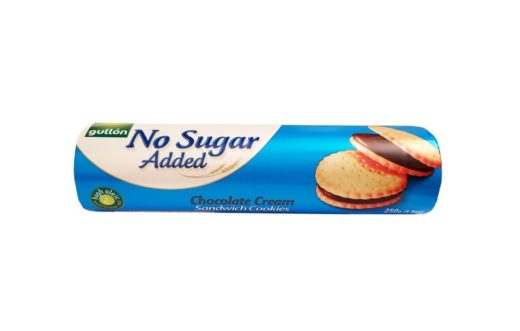Gullon, No Sugar Added Chocolate Cream Sandwich Cookies, markizy ciastka z kremem czekoladowym bez dodatku cukru, copyright Olga Kublik